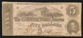 Confederate Notes:1862 Issues, Fully Framed T53 $5 1862.. ...