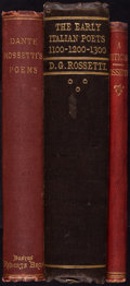 Books:Literature Pre-1900, [Poetry]. Group of Three Poetical Works or Criticism. Variousplaces: various publishers, 1861-1870.... (Total: 3 Items)