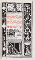 Books:Fine Press & Book Arts, Charles Ricketts, illustrator. Michael Field. The Race ofLeaves. London: Sold by Messrs. Hacon & Ricketts. New ...