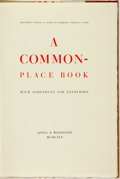 Books:Books about Books, Sherwood Grover and James D. Hammond, editors. A CommonplaceBook with Something for Everybody. Aptos & Woodside...