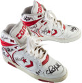 Basketball Collectibles:Others, 1990 Converse NBA All-Star Team Signed Shoes - From Family of SandyGrossman. ...