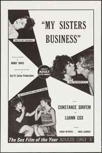 """My Sisters Business (Carl R. Carter, 1970). One Sheet (28"""" X 42""""). Adult"""