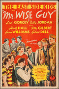 "Movie Posters:Comedy, Mr. Wise Guy (Monogram, 1942). One Sheet (27"" X 41""). Comedy.. ..."