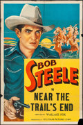 """Movie Posters:Western, Near the Trail's End (Spectrum, R-1936). Stock One Sheet (27"""" X 41""""). Western.. ..."""