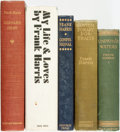 Books:Biography & Memoir, [Frank Harris]. Group of Five Books. Various publishers and dates. ... (Total: 5 Items)