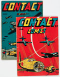 Golden Age (1938-1955):War, Contact Comics #4-5 Group (Aviation Press, 1945) Condition: Average VG.... (Total: 2 Comic Books)