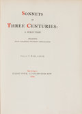 Books:Literature Pre-1900, T. Hall Caine, editor. Sonnets of Three Centuries. ASelection. London: Elliot Stock, 1882....