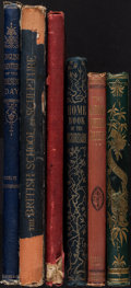 Books:Art & Architecture, [William B. Scott and W.M. Rossetti]. Group of Six Large Illustrated Books in Decorative Bindings. [Various places]: [Variou... (Total: 6 Items)