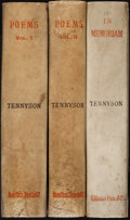 Books:Literature Pre-1900, Alfred Tennyson. Poems. London: Kegan Paul, Trench &Co., 1883. Early edition. [Together with:] In Memoriam....(Total: 3 Items)