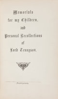 Books:Biography & Memoir, [Alfred Lord Tennyson]. Louisa E. Ward. Memorials for MyChildren, and Personal Recollections of Lord Tennyson. ...