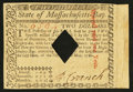 Colonial Notes:Massachusetts, Massachusetts May 5, 1780 $2 Extremely Fine+.. ...