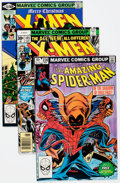 Modern Age (1980-Present):Superhero, The Amazing Spider-Man/X-Men Group of 5 (Marvel, 1977-83)Condition: Average VF+.... (Total: 5 Comic Books)