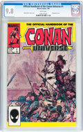 Modern Age (1980-Present):Miscellaneous, The Official Handbook of the Conan Universe #1 (Marvel, 1986) CGC NM/MT 9.8 White pages....