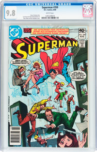 Superman #350 (DC, 1980) CGC NM/MT 9.8 White pages