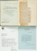 Autographs:Authors, [Featured Lot]. Max Beerbohm. ASSOCIATION COPY WITH SIGNED LETTERS.Seven Men. London: William Heinemann Ltd., 1926....