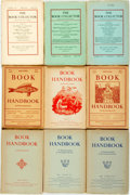 Books:Periodicals, [Periodicals/Books about Books]. Group of Nine Quarterlies aboutBook Collecting. Various publishers and dates. ... (Total: 9 Items)