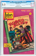 "Golden Age (1938-1955):Classics Illustrated, Stories by Famous Authors Illustrated #10 Romeo and Juliet - DavisCrippen (""D"" Copy) pedigree (Seaboard Pub., 1950) CGC VF 8...."