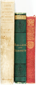 Books:Literature Pre-1900, [Dante Gabriel Rossetti]. Trio of Poetry Titles. Various publishersand dates.... (Total: 3 Items)