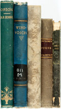 Books:Literature Pre-1900, [Poetry]. Group of Five Books. Various publishers and dates....(Total: 5 Items)