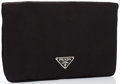 """Luxury Accessories:Bags, Prada Black Satin Beauty Chic Necessaire Cosmetic Pouch Bag.Excellent Condition. 7"""" Width x 4.5"""" Height x .5""""Depth..."""