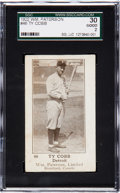 Baseball Cards:Singles (Pre-1930), 1922 V89 William Paterson Ty Cobb #46 SGC 30 Good 2. ...