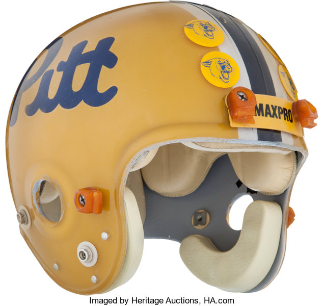 1979-82 Dan Marino Game Worn Pittsburgh Panthers Helmet and  5a347fd23