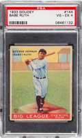 Baseball Cards:Singles (1930-1939), 1933 Goudey Babe Ruth #144 PSA VG-EX 4 With ExceptionalCentering....