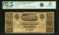 Obsoletes By State:Louisiana, New Orleans, LA - New Orleans Improvement and Banking Co. (Banque des Amèliorations) $20 Nov. 22, 1836 LA-120 G6. PCGS Fine 15...
