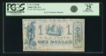 Obsoletes By State:Louisiana, Amite City, LA - L. & A. Frank $1 1862 Remainder. PCGS Very Fine 25 Apparent.. ...