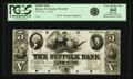 Obsoletes By State:Massachusetts, Boston, MA - Suffolk Bank $5 18__ MA-370 G100. Proof. PCGS VeryChoice New 64 Apparent.. ...