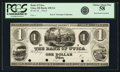 Obsoletes By State:Michigan, Utica, MI - Bank of Utica $1 18__ MI-450 G2, Lee UTI-1-1. Proof. PCGS Choice About New 58.. ...