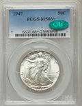 Walking Liberty Half Dollars: , 1947 50C MS66+ PCGS. CAC. PCGS Population: (1289/81 and 132/11+). NGC Census: (688/66 and 16/0+). CDN: $145 Whsle. Bid for ...