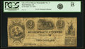 Obsoletes By State:Louisiana, New Orleans, LA - Municipality No. Three $2/Deux Piastres Sept. 10, 1840. PCGS Fine 15.. ...