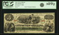 Obsoletes By State:Louisiana, New Orleans, LA - City of New Orleans $3 Jan. 1, 1868. PCGS Very Fine 30PPQ.. ...