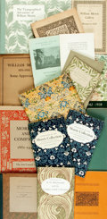 Miscellaneous:Catalogs, [Catalogs/Periodicals]. Group of Seventeen Related to WilliamMorris. Various publishers and dates....