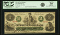 Obsoletes By State:Louisiana, New Orleans, LA - City of New Orleans $2 Oct. 24, 1862. PCGS Very Fine 30 Apparent.. ...