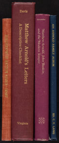 Books:Reference & Bibliography, [Matthew Arnold]. Group of Four Books about Matthew Arnold. Variousplaces:: various publishers, 1892-1990.... (Total: 4 Items)