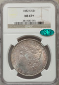 Morgan Dollars: , 1882-S $1 MS67+ NGC. CAC. NGC Census: (1710/100). PCGS Population (831/51). Mintage: 9,250,000. Numismedia Wsl. Price for p...