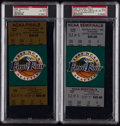 Basketball Collectibles:Others, 1995 NCAA Final Four Full Tickets Lot of 2 PSA NM-MT 8....