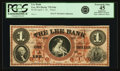 Obsoletes By State:Massachusetts, Lee, MA - Lee Bank $1 April 1, 18__ MA-725 G6a. Proof. PCGS Extremely Fine 45 Apparent.. ...