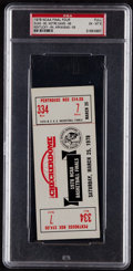 Basketball Collectibles:Others, 1978 NCAA Championship Game Full Ticket PSA EX-MT 6....