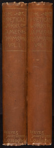 Books:Literature Pre-1900, [Bysshe Vanolis]. Bertram Dobell, editor. The Poetical Works ofJames Thomson. London: Reeves & Turner, 1895.... (Total: 2Items)
