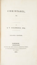 Books:Literature Pre-1900, [Samuel Taylor Coleridge and Lord Byron]. [Sammelband] Group of Four Works, Including: S.T. Coleridge, Esq. Christabel, ...