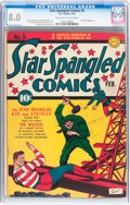 Golden Age (1938-1955):Superhero, Star Spangled Comics #5 (DC, 1942) CGC VF 8.0 Cream to off-white pages....