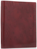 "Luxury Accessories:Home, Cartier Burgundy Patent Leather Notebook. PristineCondition. 7.5"" Width x 9"" Height x .5"" Depth. ..."