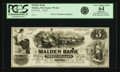 Obsoletes By State:Massachusetts, Malden, MA - Malden Bank $3 18__ MA-795 G8 SENC. Proof. PCGS VeryChoice New 64 Apparent.. ...