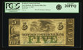 Obsoletes By State:Massachusetts, New Bedford, MA - Bedford Commercial Bank $5 Jan. 1, 1862 MA-880G26c. PCGS Very Fine 20PPQ.. ...