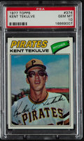 Baseball Cards:Singles (1970-Now), 1977 Topps Kent Tekulve #374 PSA Gem Mint 10 - Pop Two. ...