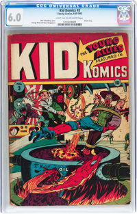 Kid Komics #3 (Timely, 1943) CGC FN 6.0 Light tan to off-white pages