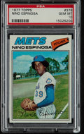 Baseball Cards:Singles (1970-Now), 1977 Topps Nino Espinosa #376 PSA Gem Mint 10 - Pop Three. ...
